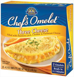 Les trois fromages étant : Parmesan, Cheddar et Monterey Jack (Je ne comprends pas l'obsession Américaine pour le Monterey Jack... Ni pour le bleu... Anyway!)
