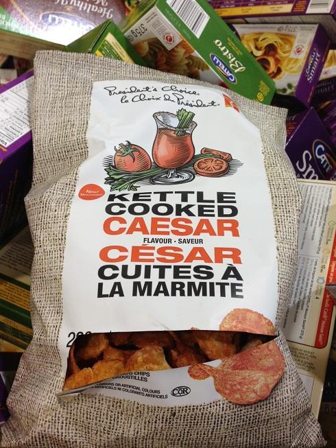 Chips à saveur de Bloody Caesar!