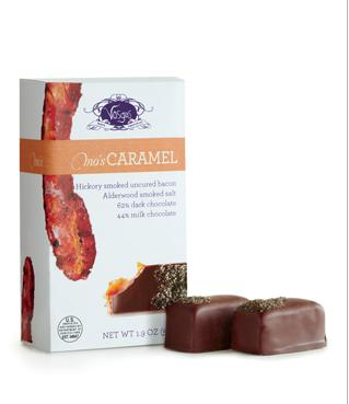 Chocolat + caramel + bacon = bave qui coule!