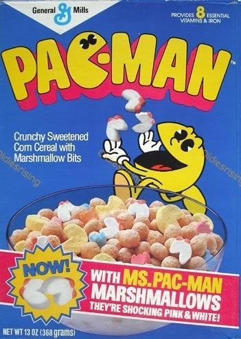 Pac-Man était tellement sua coche, qu'il avait ses propres céréales!