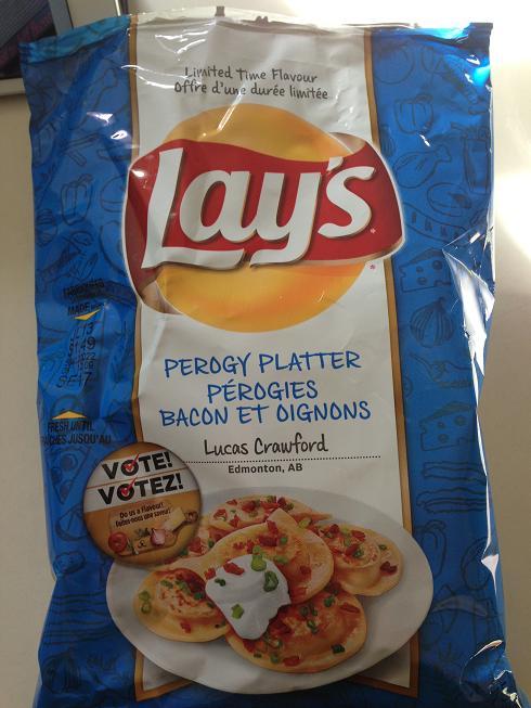 Du Bon Manger - Lays perogies bacon oignons