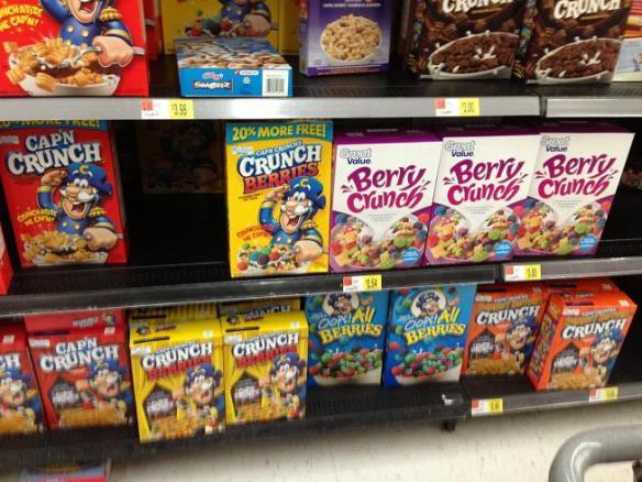 Sont chanceux ici les enfants... Ils ont plein de saveurs de Captain Crunch!