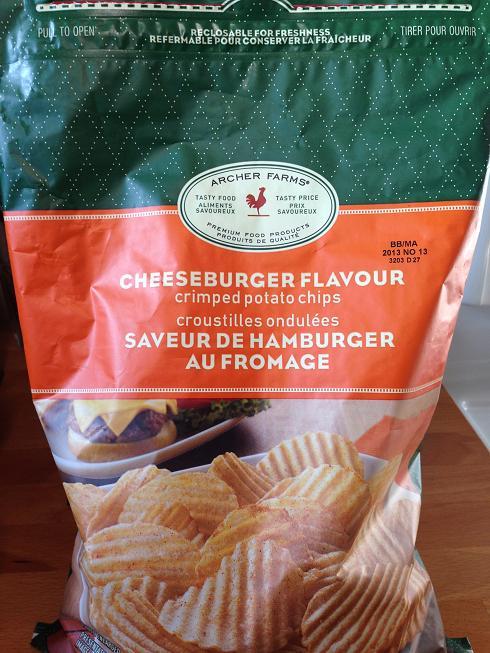 Des chips à saveur de cheeseburger!