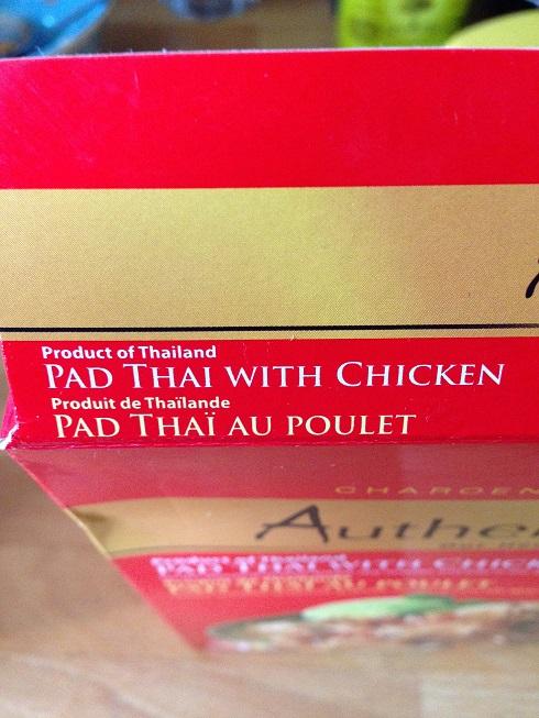 C'est un pad thaï... Thaï!