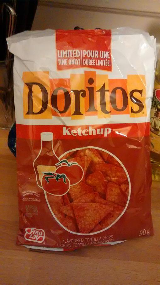 Du bon manger - doritos au ketchup