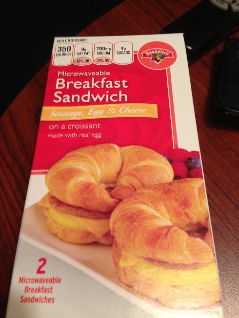 Du bon manger - croissant déjeuner préfabriqué