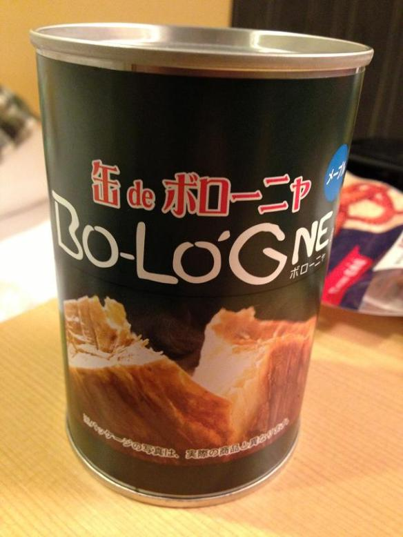 Bologne? Du baloney dans une can???? Sors le loup-marin d'icitte! (Get the phoque out of here)!