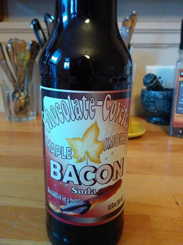 Du bon manger - Chocolate covered maple smoked bacon soda