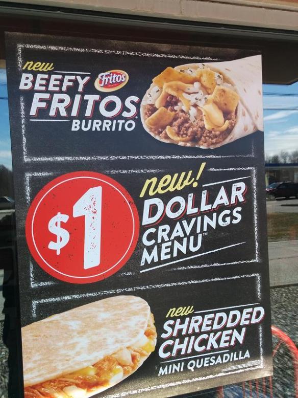 Du bon Manger - Taco Bell Beefy Fritos Burrito