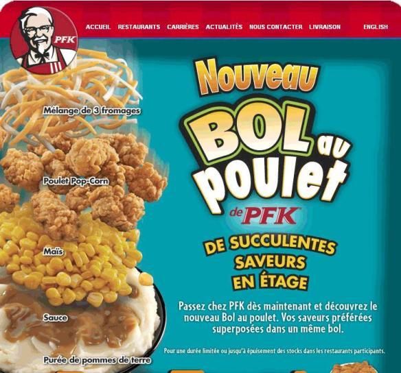 Du Bon Manger - Bol au poulet de PFK