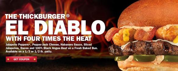 Du Bon Manger - Buffalo Blue Cheese Carls Jr El Diablo