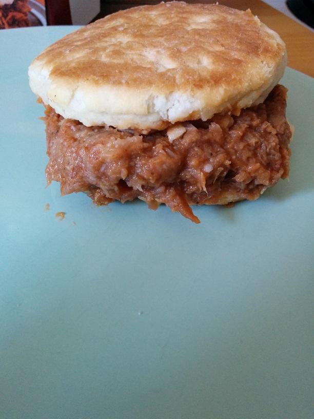 Du Bon Manger - Jimmy Dean Pulled Pork Biscuit Sandwich 4