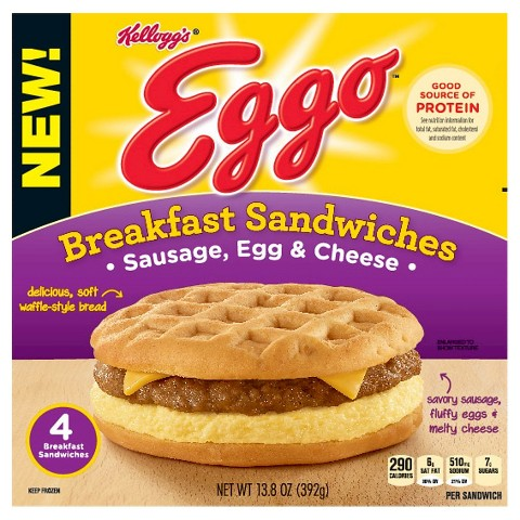Du bon manger - eggo sandwich