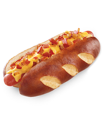 Du Bon manger - Sonics cheesy bacon pretzel dog